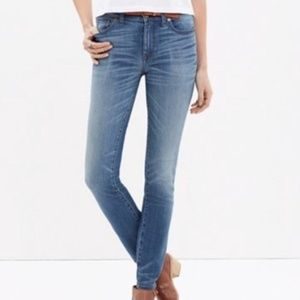 Madewell High Riser Skinny Distressed Jeans Sz 25